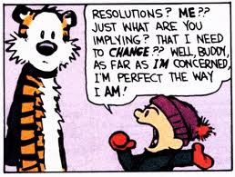 Calvin & Hobbes New Year's Resolution Comic