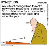 Honest Jon New Year's Resolution Comic