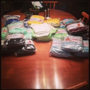 "My First ""Stash"" of Cloth Diapers"