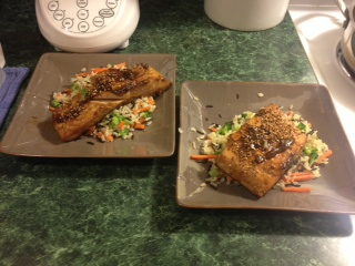 Bourbon Glazed Salmon!