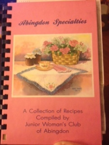 Junior Woman's Club of Abingdon Cookbook Circa 1991