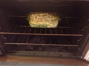 Looking good in the oven